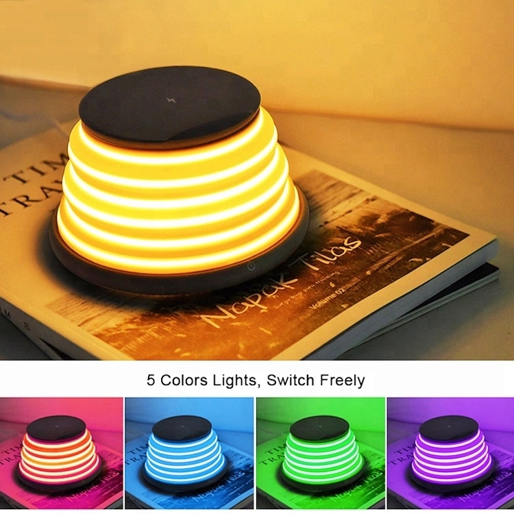 LED mood night light wireless charger