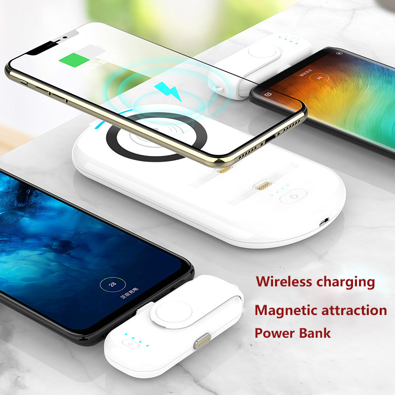 W4 wireless magnetic power bank with wireless charging